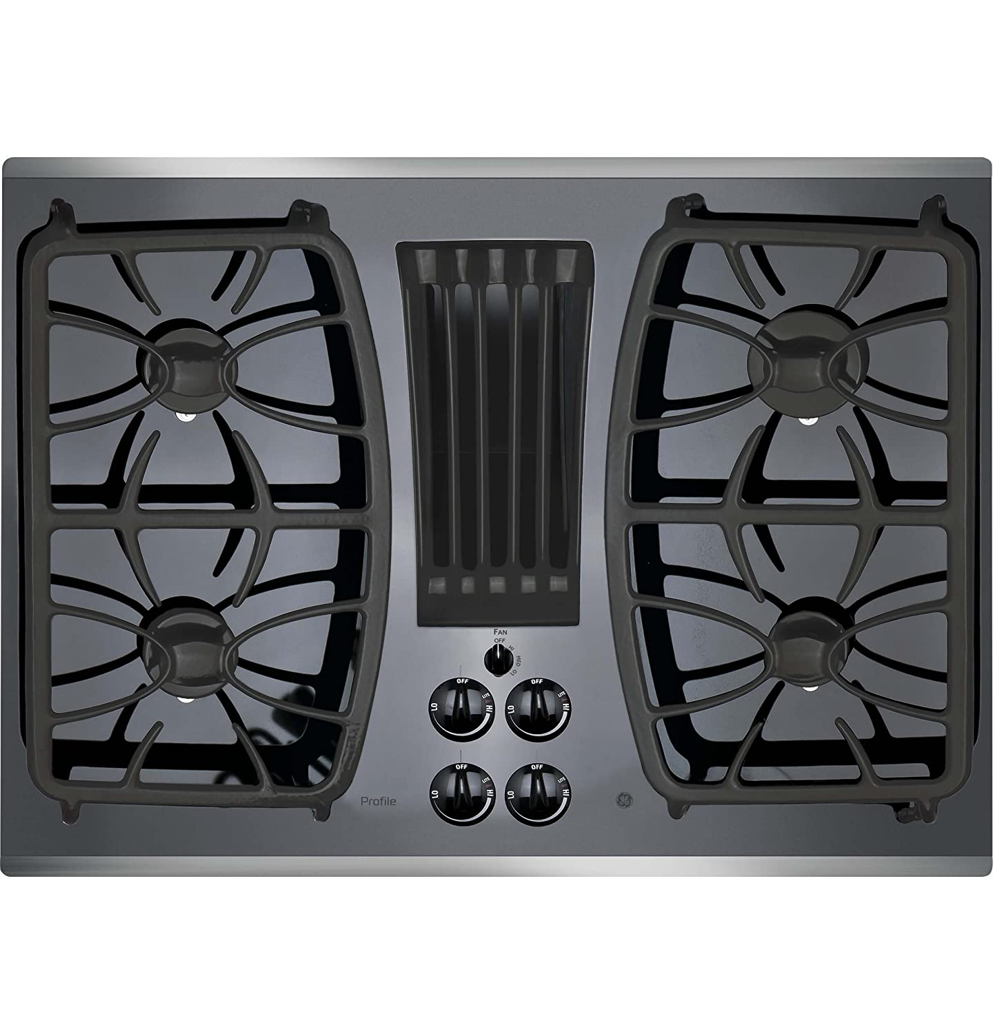GE Profile Gas Downdraft Cooktop PGP9830SJSS Black Glass w/Stainless Steel Trim