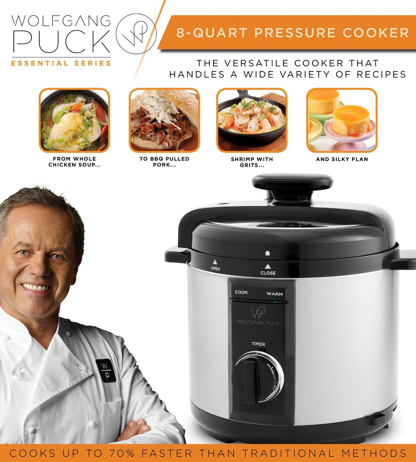 Wolfgang Puck Automatic Pressure Cooker with Removable 8 Quart Pot, 1200-Watt Cook and Sear by Wolfgang Puck (Image #5)