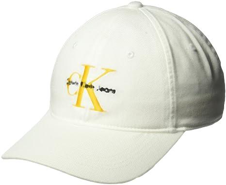 22e87e6bc96 Calvin Klein Jeans Men s Embroidered Monogram Logo Baseball Dad Hat ...
