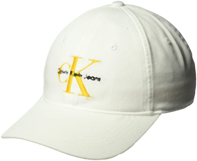 Calvin Klein Jeans Men s Embroidered Monogram Logo Baseball Dad Hat ... 40294b7e00be