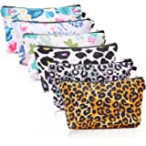 Cosmetic Bags for Women,Ftuency 6 Pieces Cute Roomy Makeup Bag Travel Set Toiletry Bags Accessories Organizer Leopard…