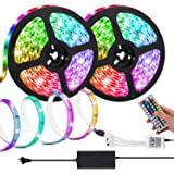 LED Strip Lights,Attuosun 32.8ft/10M RGB Color Changing Self-Adhesive Led Light Strip,Waterproof IP65 5050 300Leds…