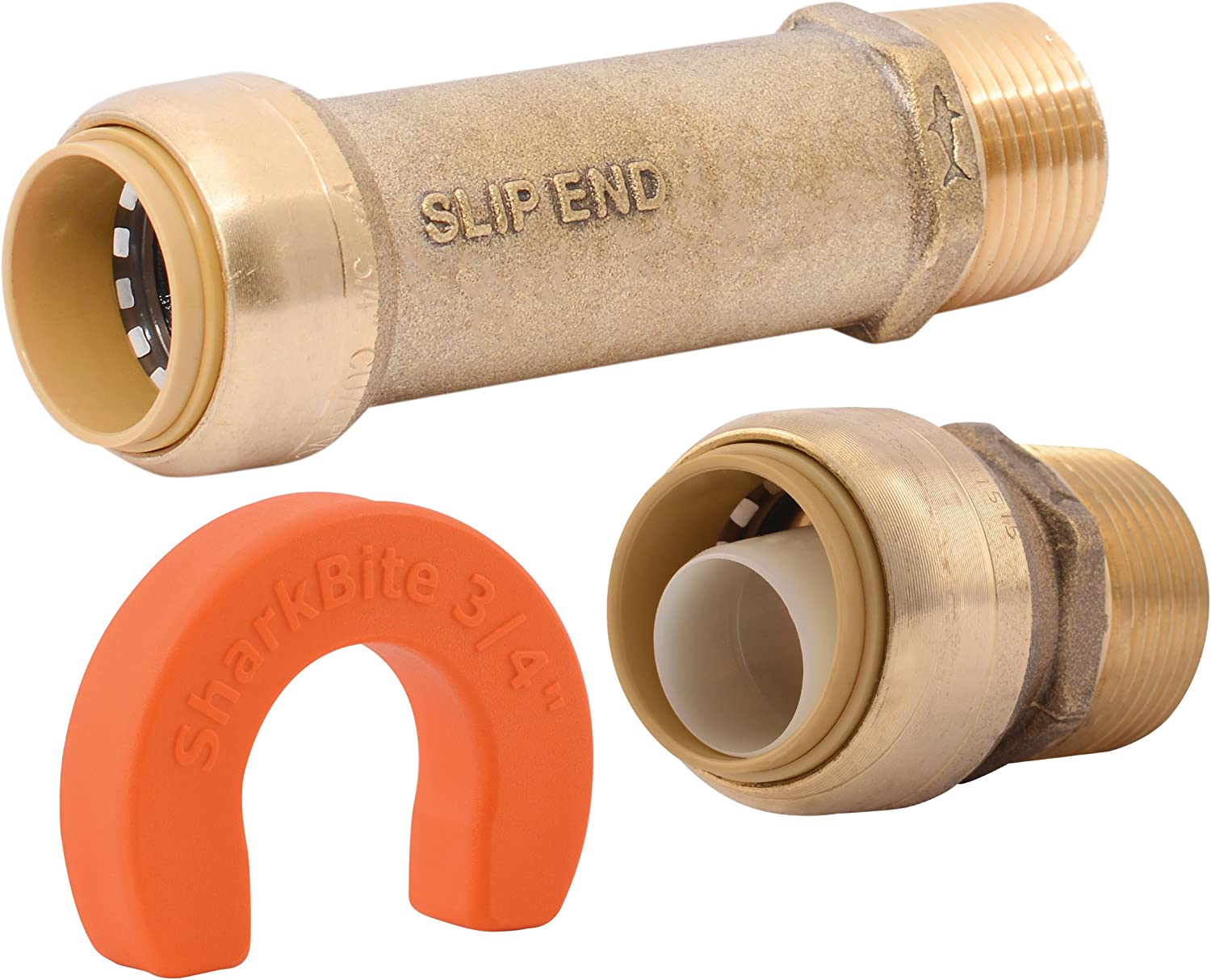 Copper Push-to-Connect 3//4 inch x 3//4 inch PE-RT PEX SharkBite Whole House 25561 x 3//4 inch Water Filter Installation Kit CPVC