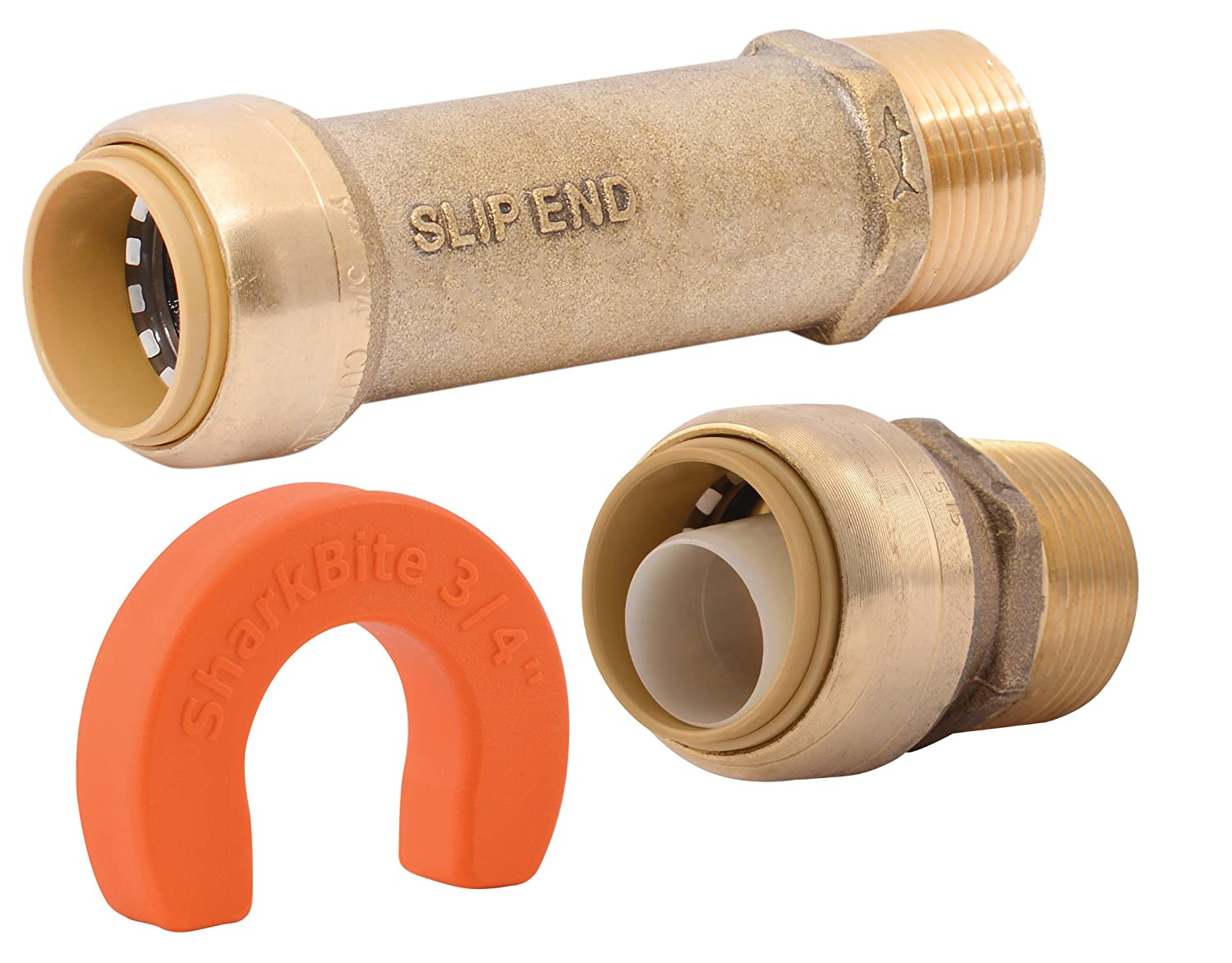 SharkBite Whole House 25561 x 3/4 inch, Water Filter Installation Kit, Push-to-Connect, PEX, Copper, CPVC, PE-RT, 3/4 inch x 3/4 inch
