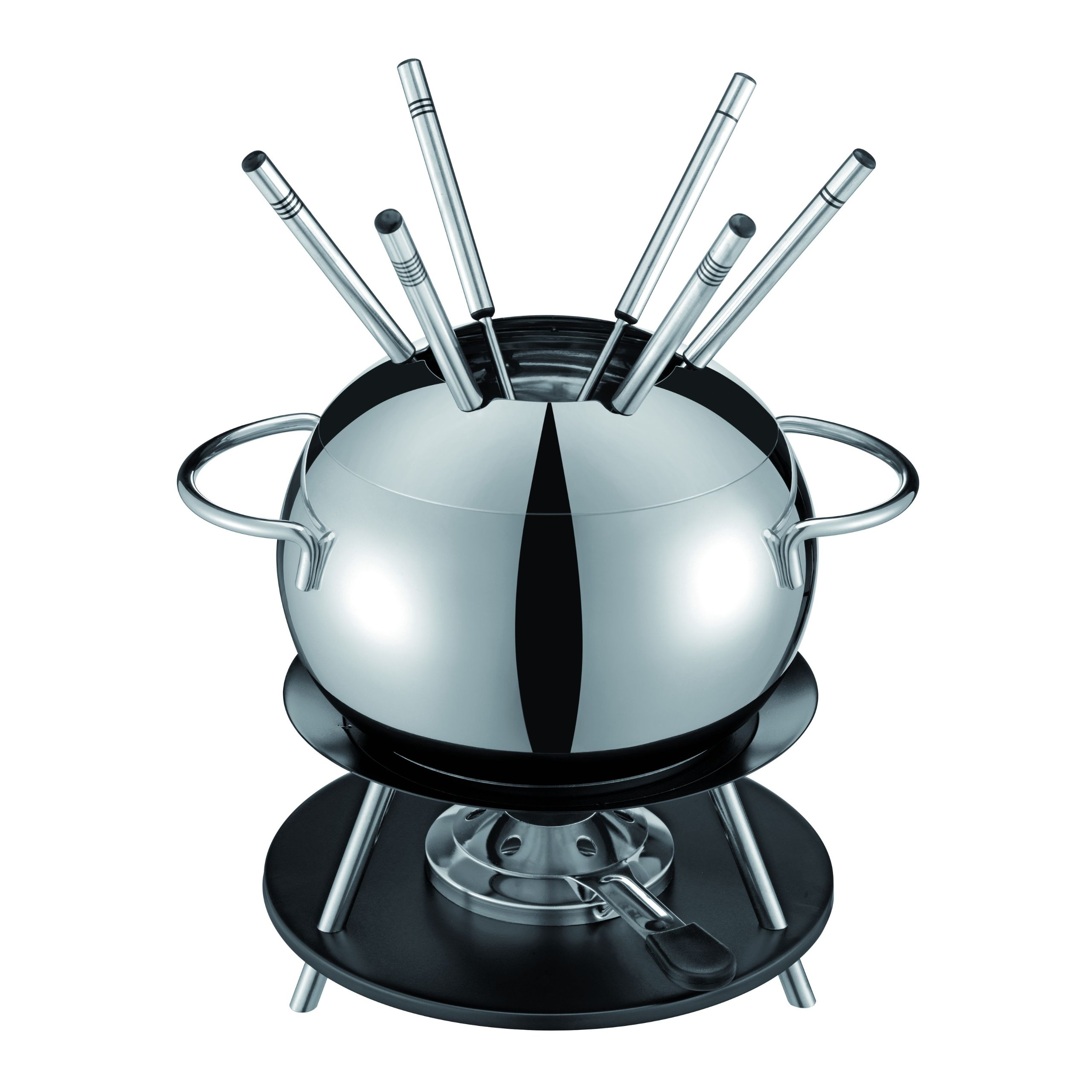 Kuhn Rikon Sphere Meat Fondue Set, Medium, Silver