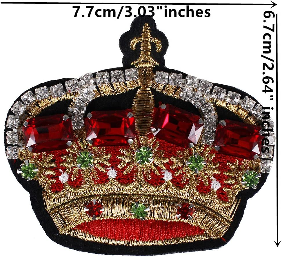 2pieces Beads Crystal Crown Patches 3D Flower Sequins Rhinestones Petal Appliques Garment Decorated DIY Sewing Badges TH748 flower 748
