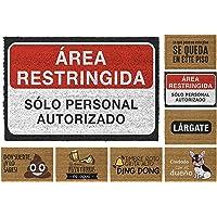 TIENDA EURASIA® Felpudos Entrada Casa Originales y Divertidos - Material : Fibra de Coco HQ con Base Antideslizante de…