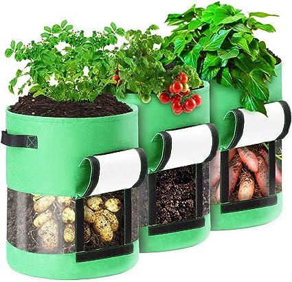 5 Gallons ValueHall 5 pi/èces Sac de Plantation A/ération Tissu Pots Sacs /à Plantes en Non tiss/é Sacs de Culture pour L/égumes avec Poign/ées pour Jardin Maison V8020C