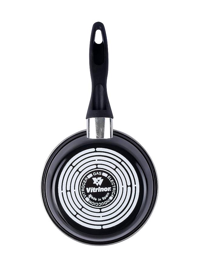Magefesa Black Sartén 28 cm de acero esmaltado, antiadherente bicapa reforzado, color negro exterior. Apto para todo tipo de cocinas, incluida inducción.
