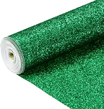 21 cm x 135 cm 1 roll Champaign Gold Sov Sparkly Superfine Glitter Leather Sheets Shiny Faux Fabric Canvas Perfect for Craft DIY Handmade Projects Patchwork Bow Craft Key Chain 8 x 53