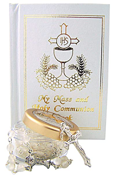 Amazon.com: My Mass and Holy Communion Missal and Rosary with Case First Communion Gift Set for Girls: Home & Kitchen