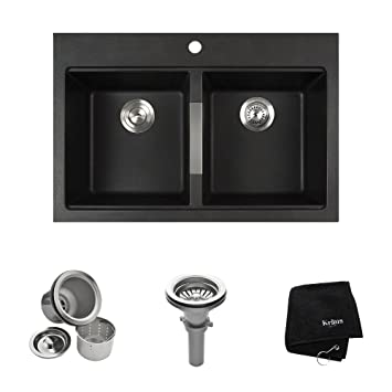 kraus kgd 433b 33 12 inch dual mount 5050 double bowl. beautiful ideas. Home Design Ideas