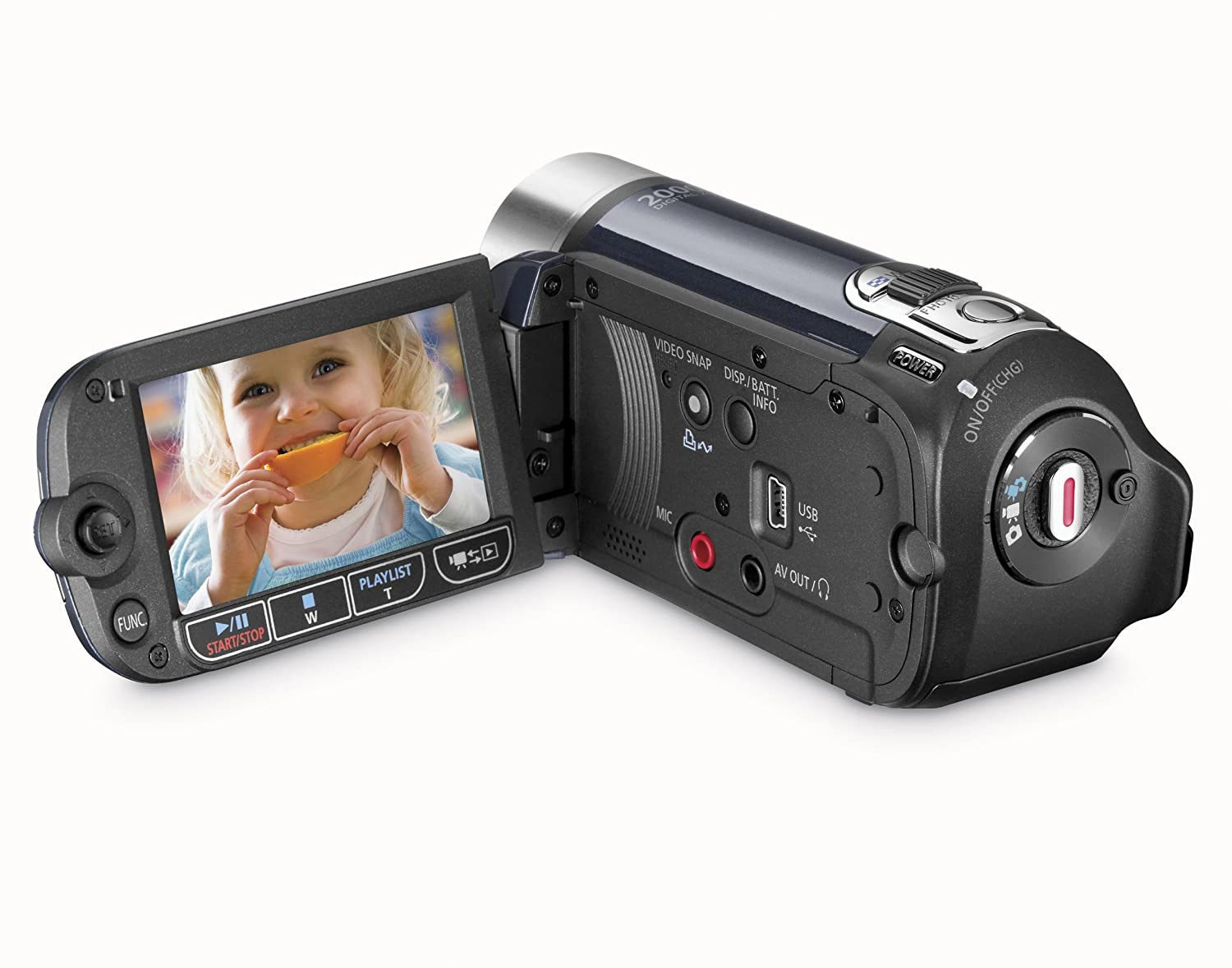 Canon FS200 Flash Memory Camcorder with 37x Optical Zoom (Evening Blue):  Amazon.ca: Camera & Photo