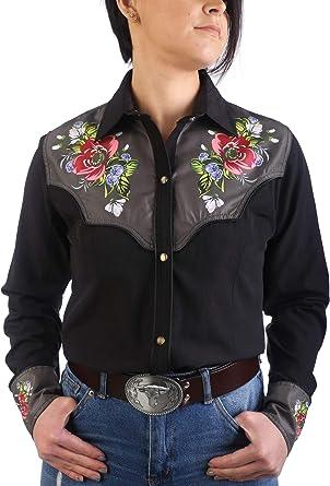 Last Rebels Country - Camisa para mujer, color negro