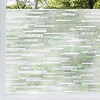 rabbitgoo Privacy Window Film Frosted Matte Window Sticker Static Cling Door Film No Glue Glass Film Window Sticker Anti…