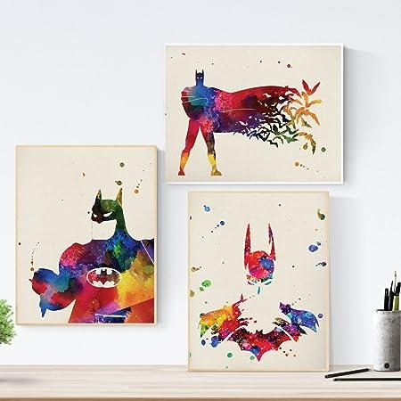 Set de Tres láminas para enmarcar Batman. Pack de Posters de ...