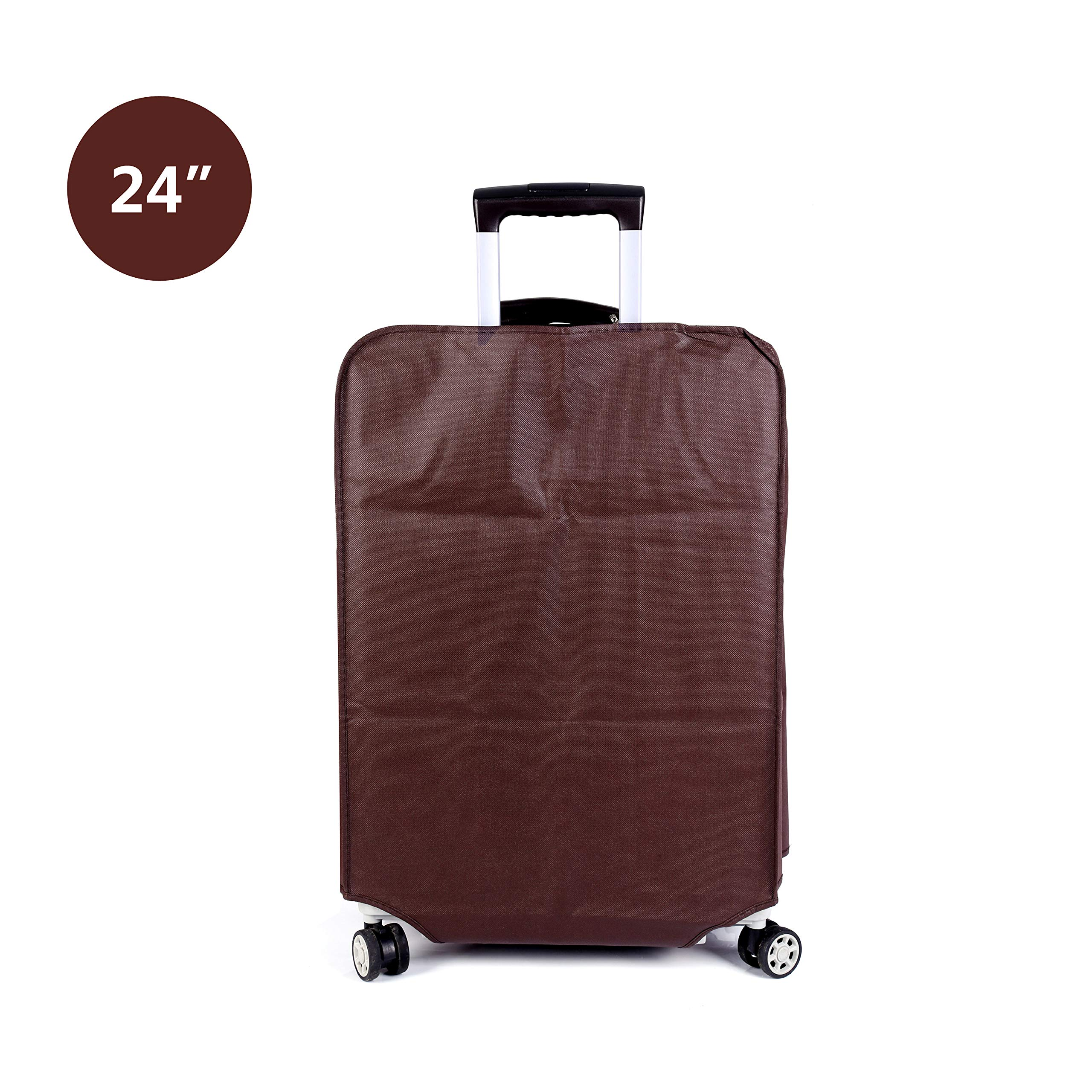 Non-elastic Suitcase Cover Waterproof Luggage Cover,3 Colors,Fits 24 Inch,Brown by CXGIAE (Image #3)