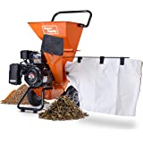 "SuperHandy Wood Chipper Shredder Mulcher Ultra Heavy Duty 7HP 212cc 3 in 1 Multi-Function 3"" Inch Max Capacity (Amazon Exclus"