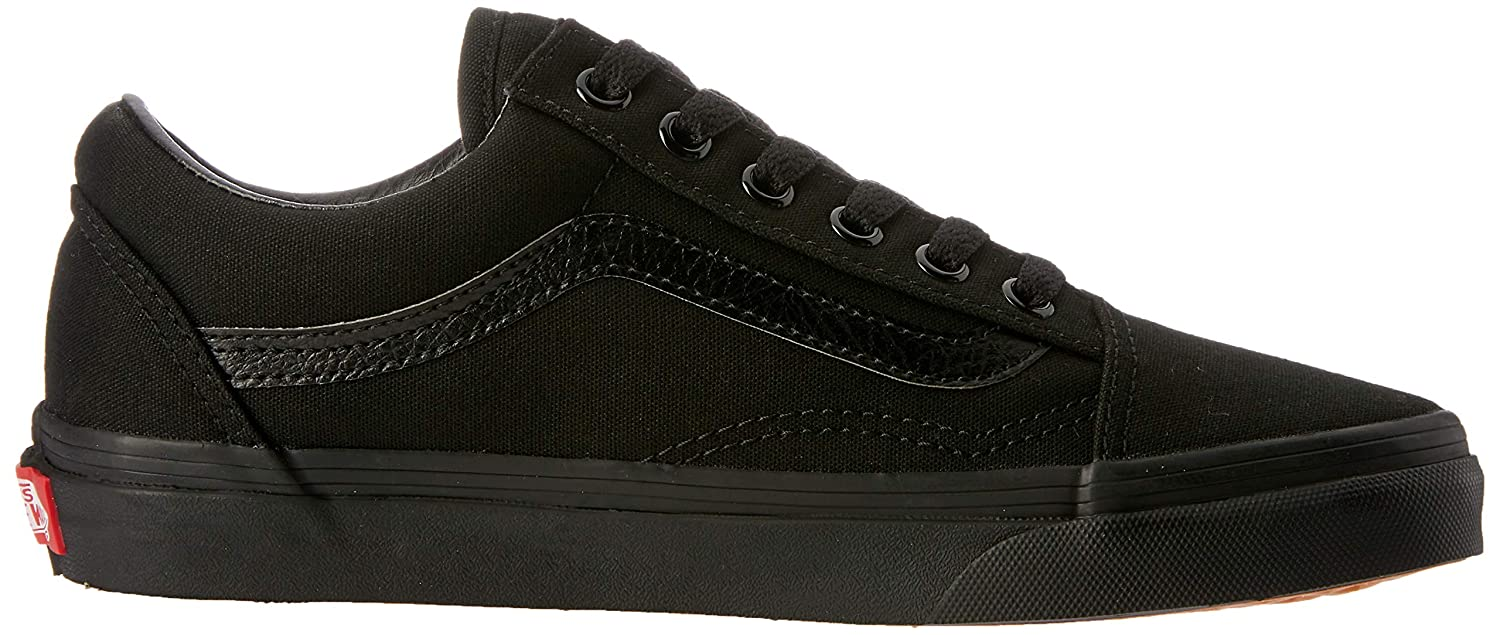 15ab1043d1644b Vans Unisex Old Skool Classic Canvas Black Black VD3HCA 2.5 UK   Amazon.co.uk  Shoes   Bags