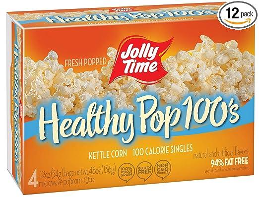 Jolly Tiempo Sanos Pop Hervidor de agua maíz – 100 bolsas ...