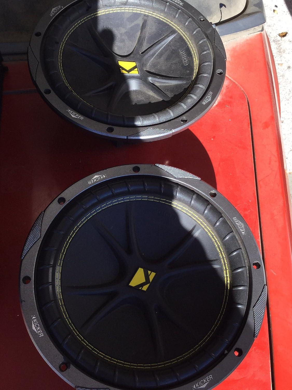 Kicker 10c104 Comp 10 600 Watt 4 Ohm Car Subwoofers Cvr 15 Inch Subwoofer In Box Addition 12 Wiring Pair Electronics