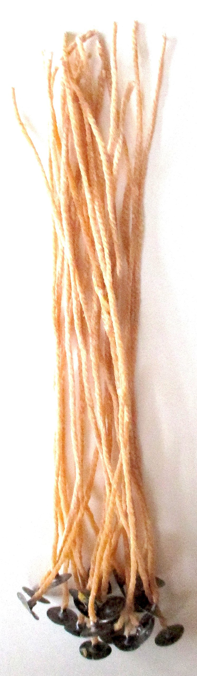 Organic Beeswax Candle Wicks with Tabs Pre-waxed 8 Inch 20 Count