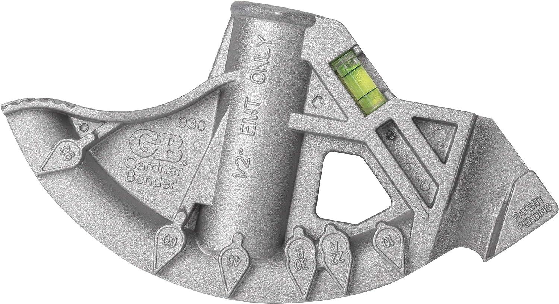 Gardner Bender 930H 1//2-Inch EMT Aluminum Hand Bender with Handle 1//Pack