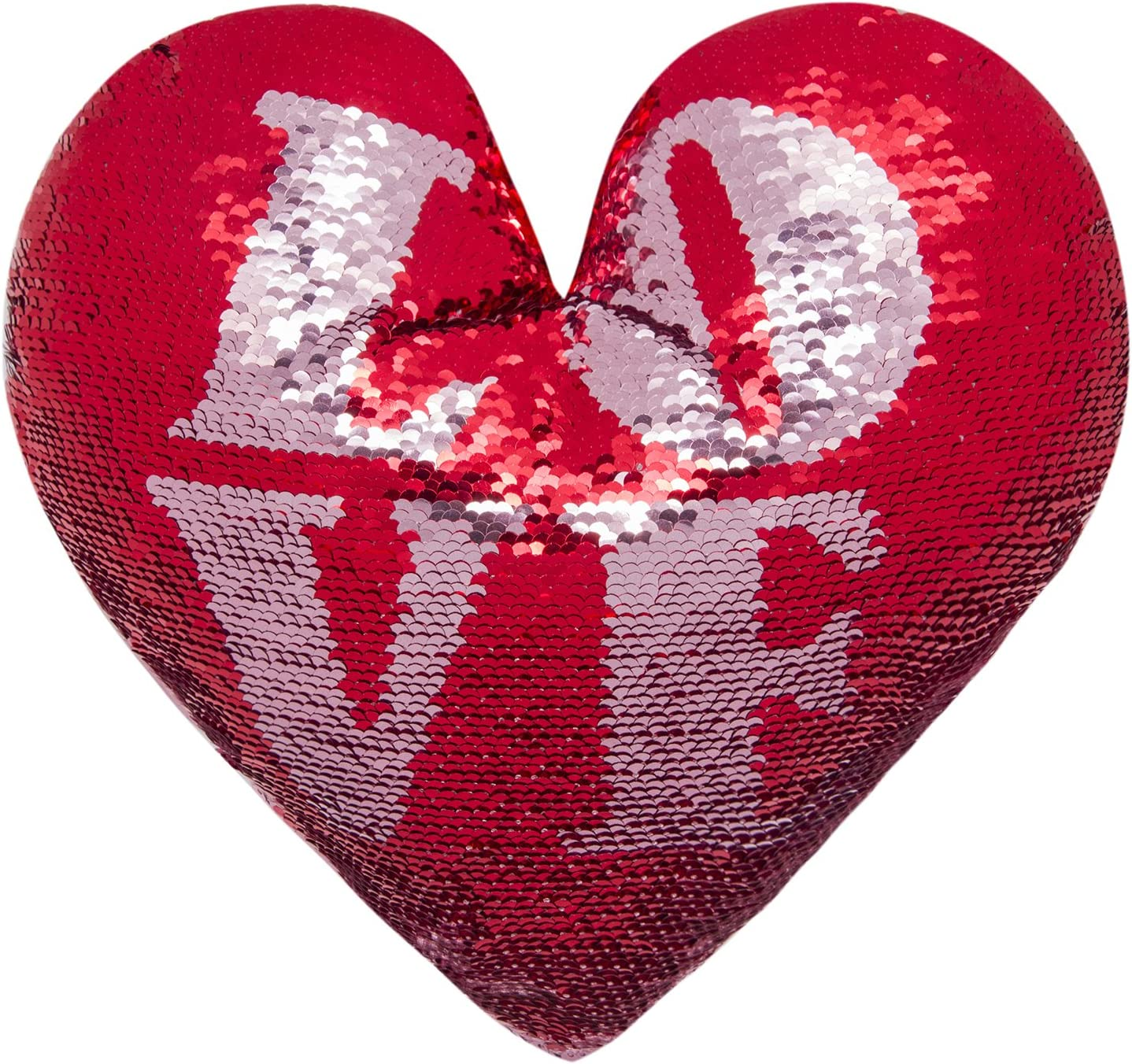 2 colori a forma di cuore Reversible Decorative Paillettes Cushion Pillow Ataya Mermaid Throw Pillow con inserto