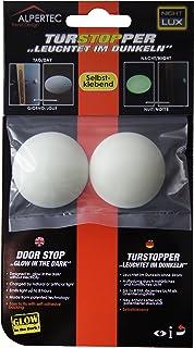 Alpertec 32274630 - Adesivo porta palla luminosa, fermaporta, plastica, 2 pezzi, parete fermaporta nuovo