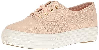 Keds Damen Tpl Kick Metallic Linen Rose Gold Sneaker, Gold (Gold), 37.5 EU