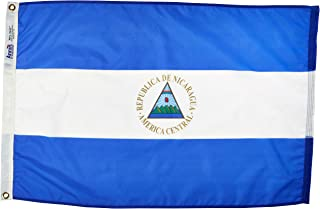 product image for Annin Flagmakers Model 196230 Nicaragua Flag Nylon SolarGuard NYL-Glo, 2x3 ft, 100% Made in USA to Official United Nations Design Specifications