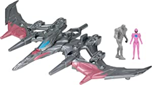 Power Rangers Movie Pterodactyl Battle Zord with Pink Ranger Figure
