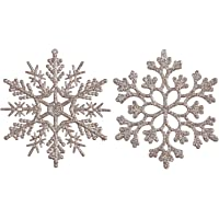 Sea Team - Decorazioni per albero di Natale ornamentali in plastica con glitter, 10cm, confezione da 36