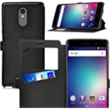 BLU Vivo 5R case, KuGi ® BLU Vivo 5R case - BW style High quality ultra-thin PU stand Case for BLU Vivo 5R smartphone.(Black)
