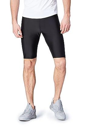 Activewear Pantalón Corto con Mallas de Deporte para Hombre, Negro (Black), 50 (Talla del fabricante: Medium) amazon el-negro