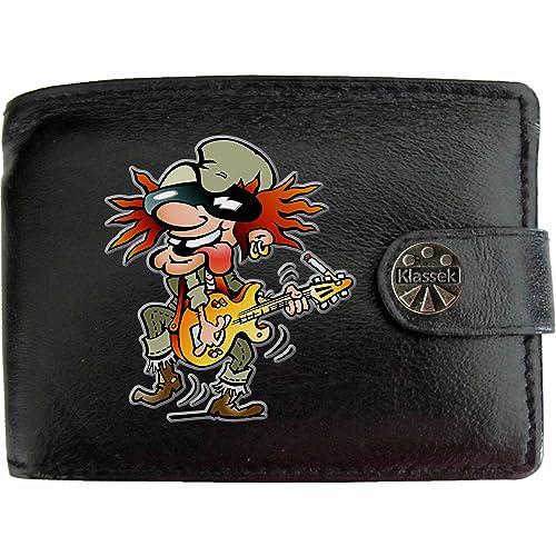 Old Rocker Electric Guitar Viejo Rockero Guitarra Eléctrica Klassek Billetera Cartera para hombre Rock n Roll de cuero auténtico Regalo Presente Con caja de ...