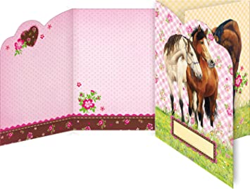 Horse Caballo amigos tarjetas de invitación con sobres, Modelo # 21437: Amazon.es: Juguetes y juegos