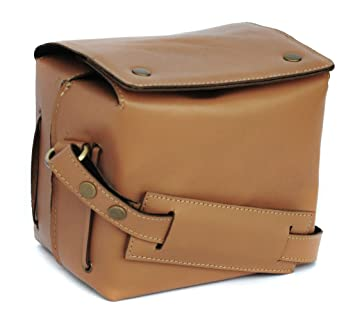 Genuine Leather Bag for Canon EOS EOS 7D Mark II DSLR Camera  #CUBE_Tan  Cases   Bags