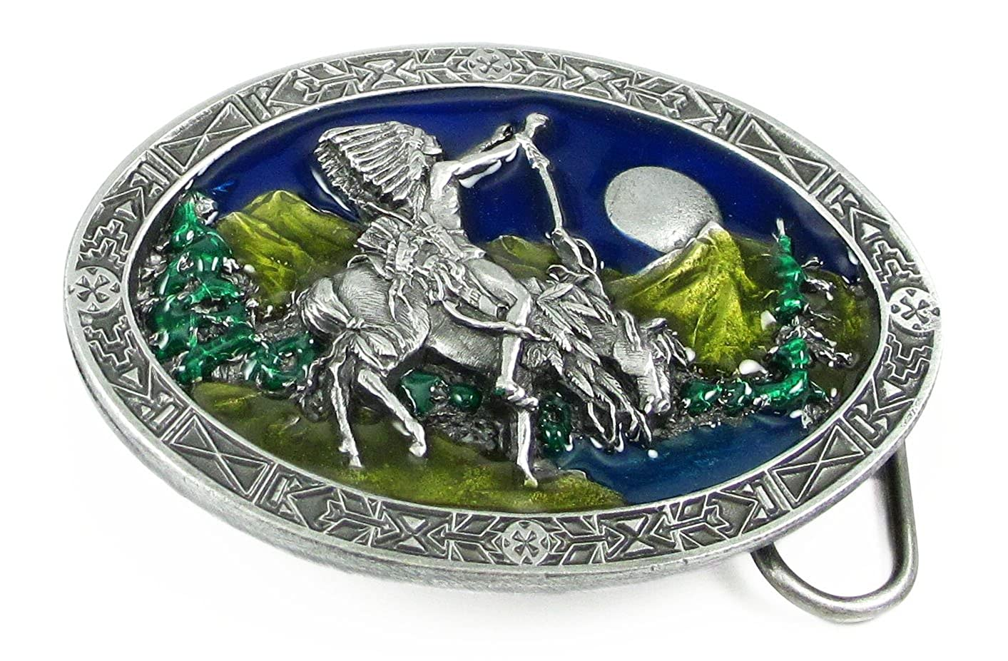 Pewter Belt Buckle Chief Joseph Indian Chief