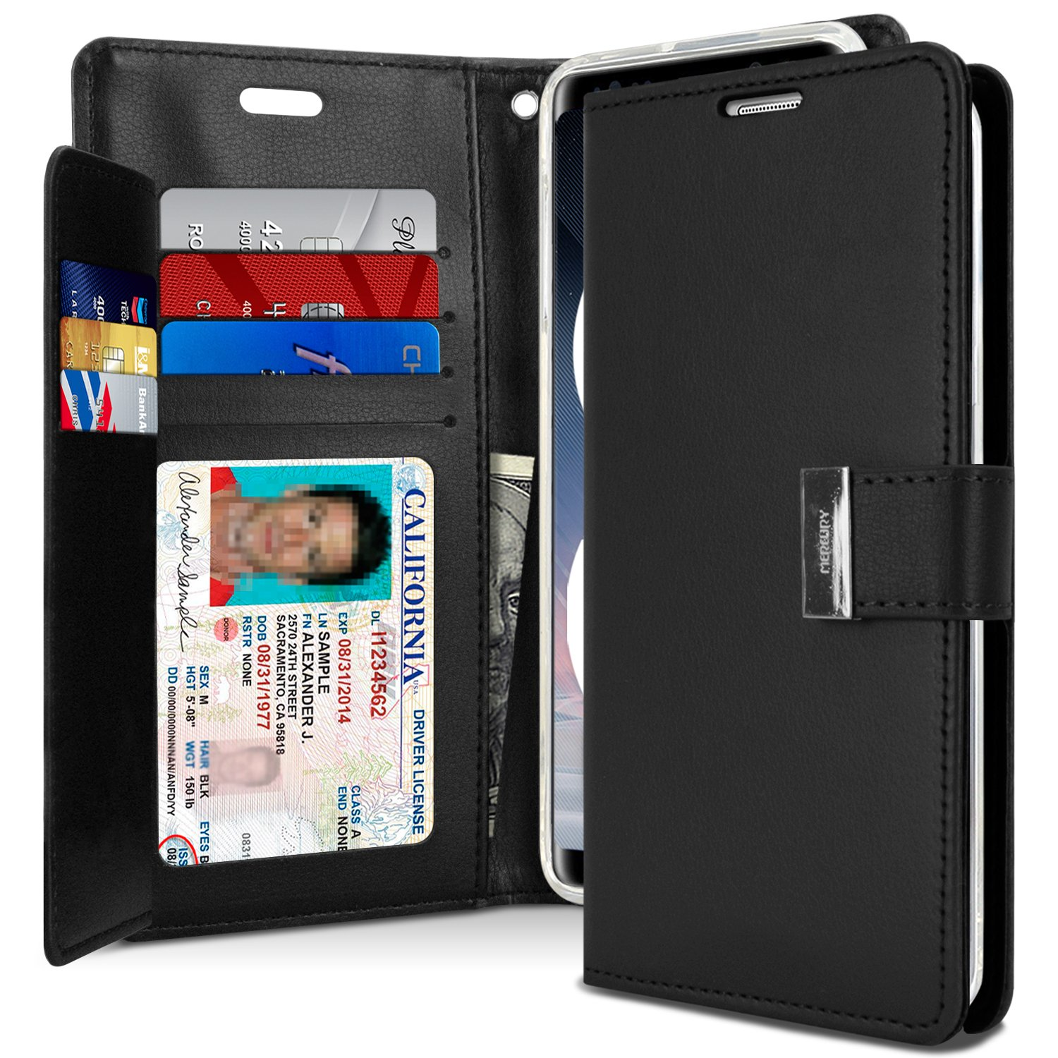 Galaxy Note 8 Case Drop Protection Goospery Rich Samsung S6 Canvas Diary Navy Wallet Premium Soft Synthetic Leather Id Card Cash Slot Cover For