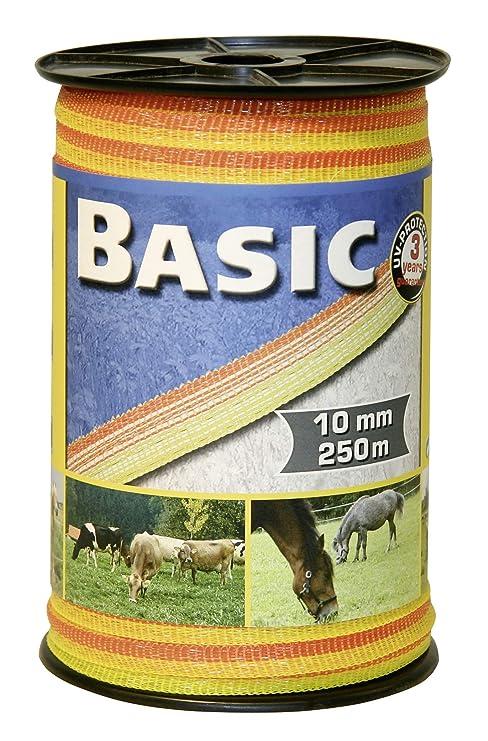 Cinta electrificador pastor Basic 250 m x 10 mm vacas caballos ovejas