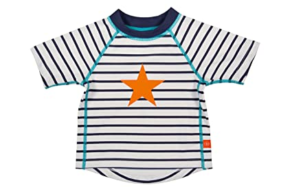 adc93e55aae48 Lassig Splash and Fun Baby Short Sleeve Rashguard Swim Shirt Boys UV ...