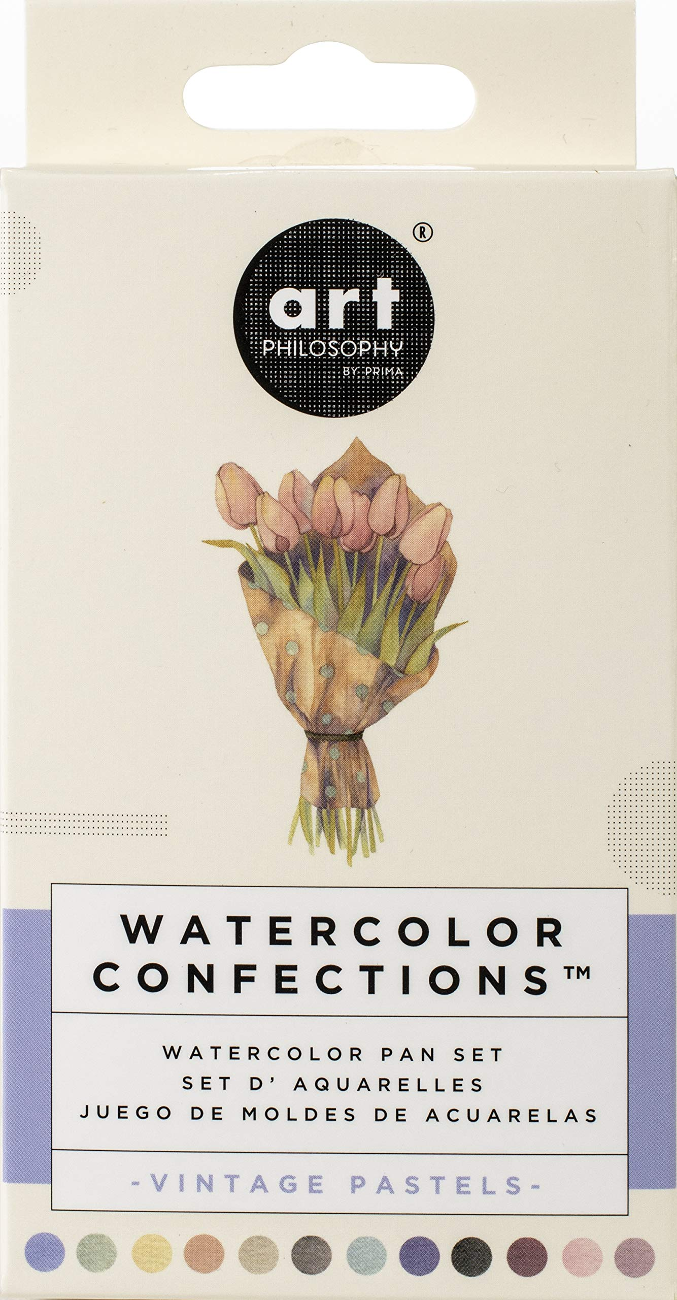 Prima Marketing 636722 Prima Confections Watercolor Pans 12/Pkg-Vintage Pastel by Prima Marketing