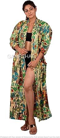 Kimono Cardigan Beach Kimono Night Gown Cotton Handmade Cover Up Bath Robes 100/%Cotton Robe Kimono Bath Robes Indian Floral Japanese Kimono