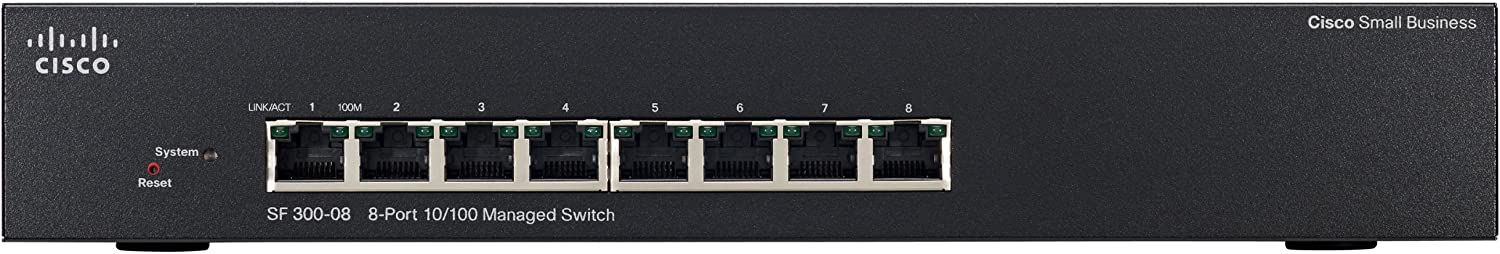SRW208-K9-NA Cisco SF300-08 8-Port 10//100 Managed Switch