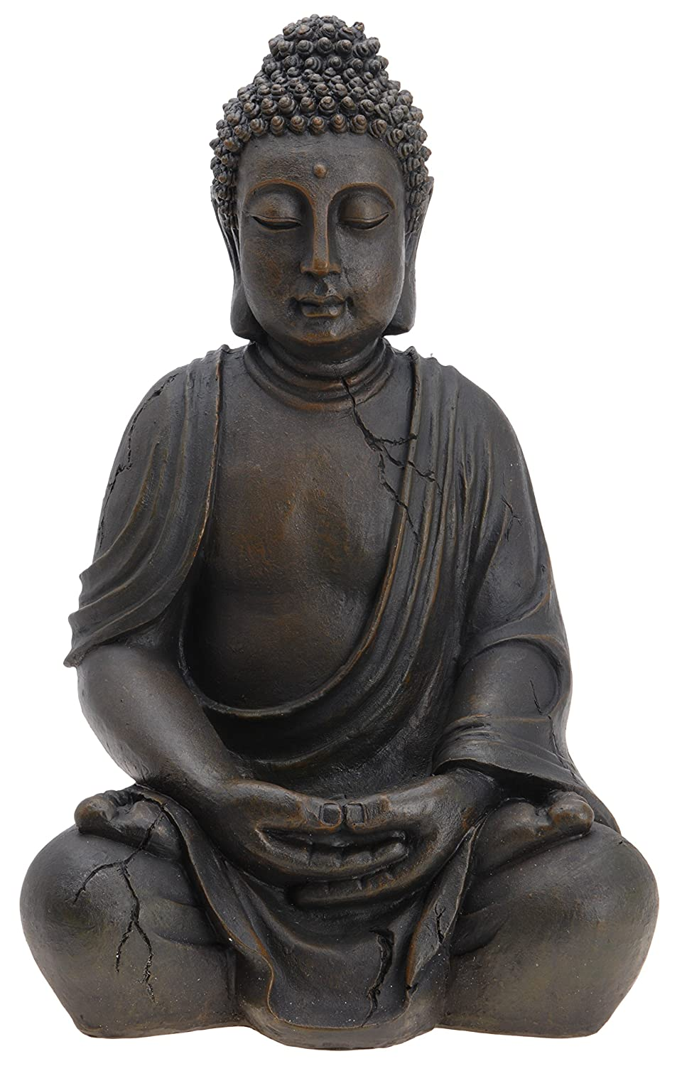 bouddha sculpture figurine statue 50 cm jardin terrasse ebay. Black Bedroom Furniture Sets. Home Design Ideas