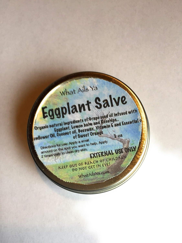 Amazon Com Eggplant Salve 1 Oz All Natural Ingredients What Ails Ya Unisex Handmade