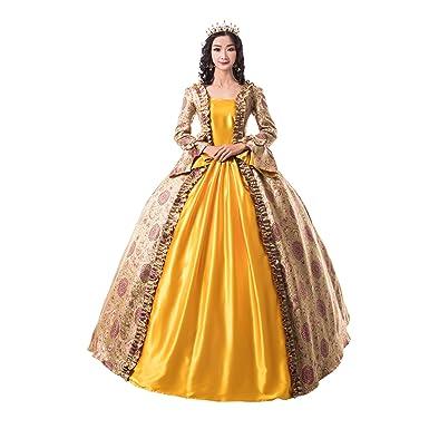 a07639cf3bf0 Amazon.com: Renaissance Queen Elizabeth I/Tudor Gothic Jacquard Fantasy  Dress Game of Thrones Gown Halloween Costumes: Clothing