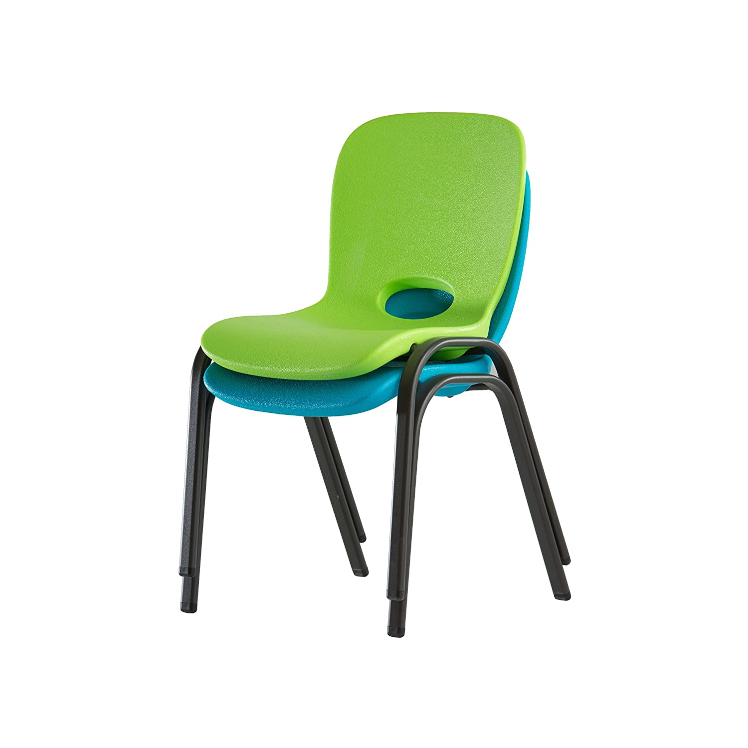 Amazon Lifetime Kids Stacking Chair 4 Pack Lime