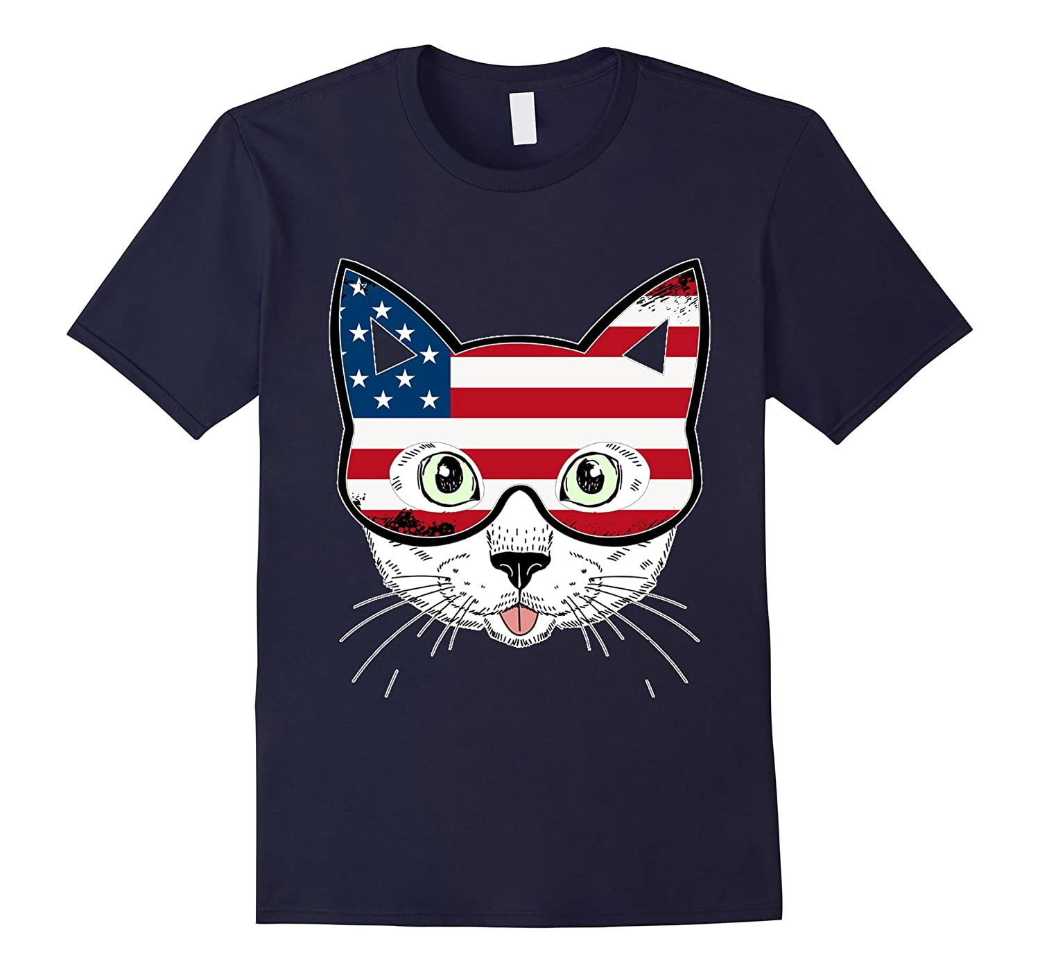 4th Of July Cute Cat Independence Day T Shirt-PL